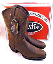 Mens Justin Sorrel Apache Western Cowboy BOOTS 2552 Square Toe Size 12 D