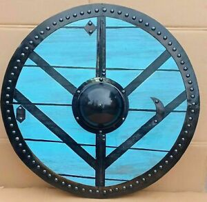 "Medieval Viking 24"" Shield Fully Functional Medieval Shield Battle Decor Armour"