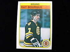1982 83 O pee Chee Ray Bourque hockey card   Bruins   # 7