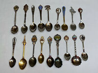 Souvenir Spoon Collection Lot Vintage State Celeste Collector- Some Silverplated