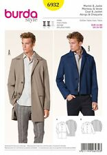 Burda Men's Sewing Pattern 6932 Classic Coats & Jackets (Burda-6932)