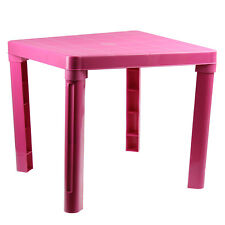 Kids Children Durable Plastic Table Pink Home Furniture Desk Reading Study Gift