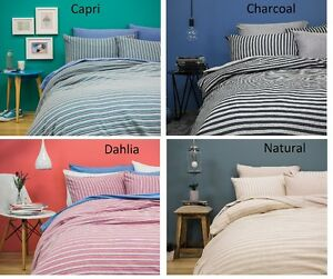 "100% Cotton Jersey Knit ""BedT"" Quilt Cover Sets - Various colours and Double and"