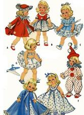 "Doll Clothes PATTERN 2150 for 7"" 8"" Ginny Wendy Muffie Bella Honeybunch Colgate"