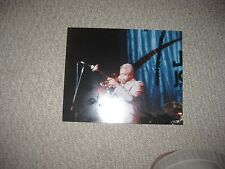 Vintage Candid 1990 Dizzy Gillespie Jazz Photograph Trumpet Playing Music Nr