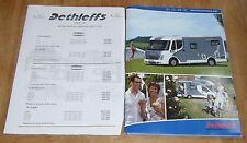 FOLLETO de gama Dethleffs Autocaravana folleto de información técnica lista ...