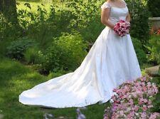 Drop waist wedding gown