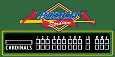 Cardinals decor, Busch stadium scoreboard, Cardinals scoreboard