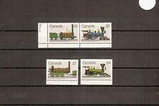 Canada 1983 SG1106-9 4v NHM Railway Locomotives-Robert Stephenson's Locomotive D