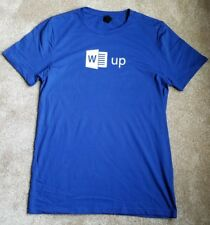 "Brand New Microsoft Office ""Word Up"" Graphic T-Shirt w/ Word Logo, Nerdy Gift! T"