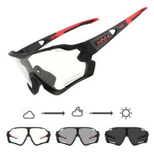Photochromic Sunglasses Outdoor Bike Glasses UV400 Full Frame Cycling Goggles