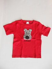 New Toddler Red Tshirt Tee Size 2-4T Fuzzy Face Puppy by North American Bear