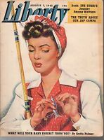 1943 Liberty August 7 - Woman Fishing; 57th Fighter Group; Our Jap Camps