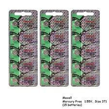 Maxell 371 SR920SW SR920 Silver Oxide Watch Batteries (15Pcs)