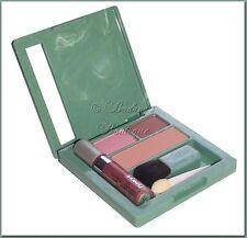 Clinique Soft-Pressed Powder Blusher~MOCHA PINK + Eyeshadow & Gloss~Makeup Quad