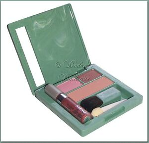 Clinique Glosswear for Lips Sheer Shimmers~SUNSET+Blush & Eye Shadow~Makeup Quad