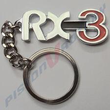 RX3 KEYRING KEY CHAIN like badge,Chrome for MAZDA ROTARY RX-3 12A 13B RX2 RX4 RE