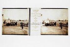 Syrie Damas Cimetière Plaque stéréo Vérascope Richard Vintage