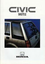 HONDA CIVIC SHUTTLE Front 4x4 4WD Van Deutschland Prospekt Brochure 1987 96