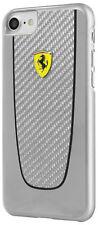 FERRARI PIT STOP Carbon iPhone 7 Plus, 8 Plus SCHUTZHÜLLE Back Case Cover Silber