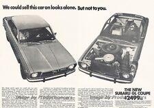 1972 Subaru GL 2-page Advertisement Print Art Car Ad J827
