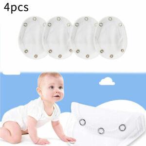 4Pcs Baby Bodysuit Extender Cloth Vest Jumpsuit Romper Cotton Pad Soft Comfort