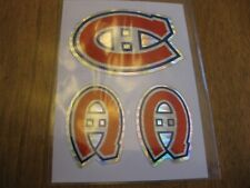 Montreal Canadiens NHL Hockey Logo Sticker SET OF 3  / Decal