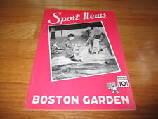 Boston Garden OLYMPICS 1940 Program vs BALTIMORE ORIOLES Walter Brown MINORS