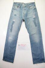 Levi's 501 Destroyed Customized (Cod. H1987) Tg48 W34 L36 jeans usato Vita Alta