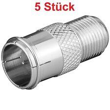 Sat LNB Satellite Adapter 1x Quick Coaxial Plug on 1x F Bushing Coupling