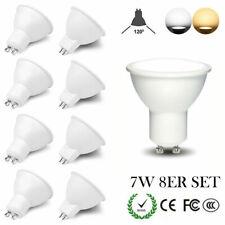 8er Set GU10 MR16 LED Leuchtmittel Strahler 7W warmweiß Dimmbar kaltweiß 120° A+