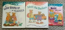 LOT OF 3 BARKERS BOOKS ~ TOMIE DEPAOLA ~ MEET NEW IN THE HOUSE BOSS FOR DAY 1ST