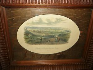 ANTIQUE  HAND COLOURED S.T. GILL ENGRAVING DATED 1857 TITLED TOWNSHIP OF KEILOR