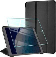 Coque iPad Air 2 AROYI Verre Trempé Smart Case Cover Housse Etui Cuir PU Noir