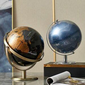 Retro World Globe Terrestrial Map Modern Geography Education Desk Decoration
