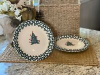 "Tienshan Folk Craft WINTER WONDERLAND 10 3/8"" Dinner Plates - Set of 3 Preowned"