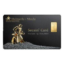 Goldbarren 1 Gramm in SecainCard Heimerle + Meule