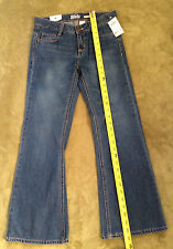 NWT Osh Kosh B'Gosh Little Girls' Boot Cut Adjust Waist Jeans Blue Regular 12R