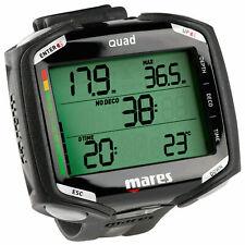 New listing New Mares Quad Nitrox Dive Computer Wrist Model diving Black / Black (Open box)