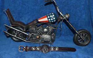 Indian Chief Biker Bracelets Adjustable Rad Gypsy Punk Rock Hiphop Tribal Unisex