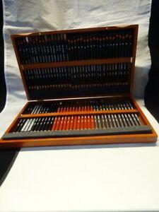 Derwent - Fine Art Set 72 Coloured Pencils In Wooden Box - Drawing Crafts Unused
