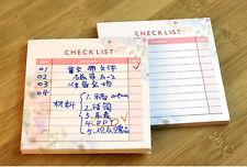 Mini Work Study Check List Journal Schedule Planner Memo NotePad Note Paper #AU