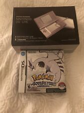 Nintendo DS Lite Handheld Game Console - White With Pokémon Soul Silver