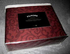 QUEEN - Loft 18 - Filmore 400TC Dark Red Brick Floral Print on Brick SHEET SET