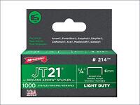 Arrow JT21 T27 Staples 10mm 3/8in Box 5000 ARRJT2138