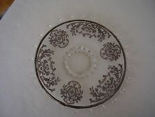 "Heisey Lariat 10"" Round Footed Plate with Beautiful Silver Overlay FREE SHIPPING"