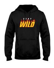 Stay Wild Black Gildan 18500 Hoodie Size S-3XL