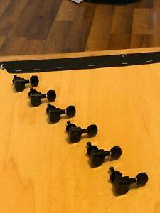1999 Ibanez RG350DX RG Series Guitar Dual Pin Black Tuners Tuning Pegs 6 In Line