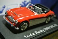 Mint Austin Healey 3000 Mk 3 on its own stand by Atlas with Collectors Leaflet