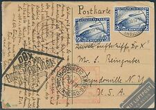 DOX FLIGHT ON POSTCARD GERMANY TO USA SEPT 13,1930 BR7973